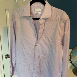 Calvin Klein shirt, M, Slim Fit, light purple